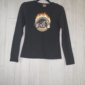 Harley Davidson Women's Long Sleeve Graphic Shirt